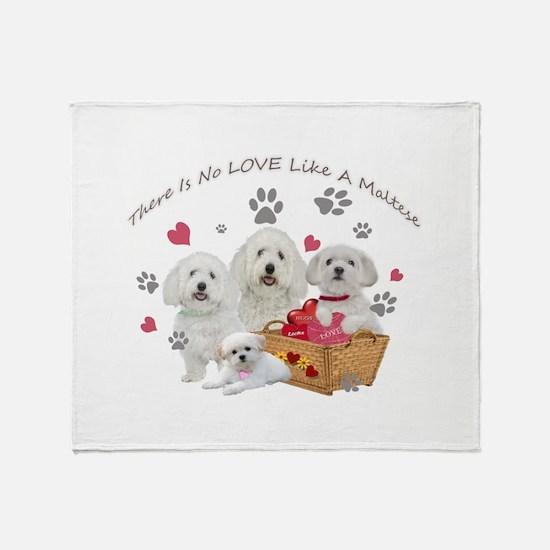 No Love Like A Maltese Throw Blanket