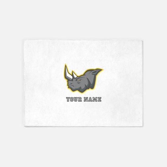 Rhino (Custom) 5'x7'Area Rug