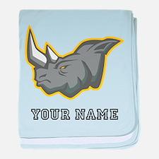 Rhino (Custom) baby blanket