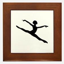 Dancer Silhouette Framed Tile