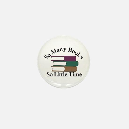 So Many Books Mini Button