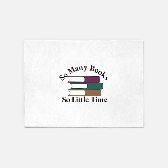 So Many Books 5'x7'Area Rug