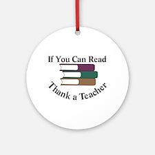 Thank a Teacher Ornament (Round)