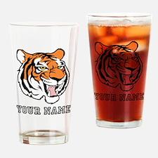 Tiger Head (Custom) Drinking Glass