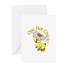 One Hot Chick! Greeting Cards