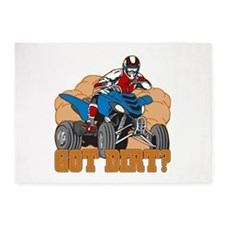 Got Dirt ATV 5'x7'Area Rug