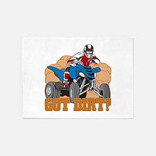 Got Dirt ATV 5'x7'Area Rug