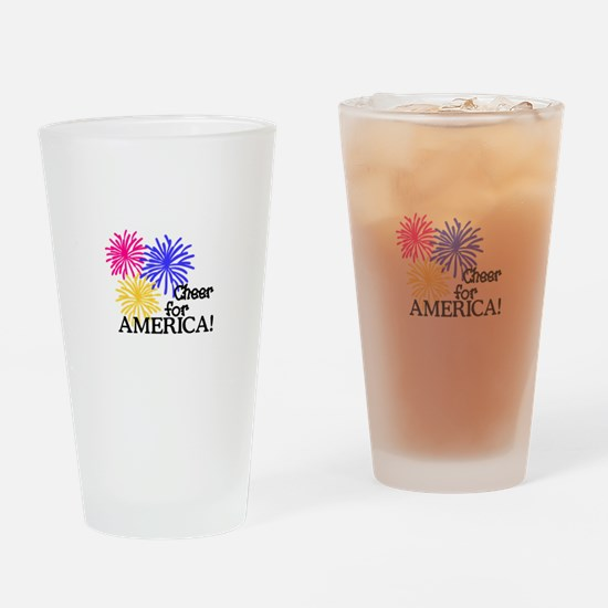 Cheer For America! Drinking Glass