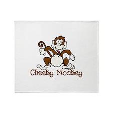 Cheeky Monkey Throw Blanket