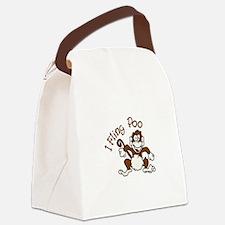 I Fling Poo Canvas Lunch Bag