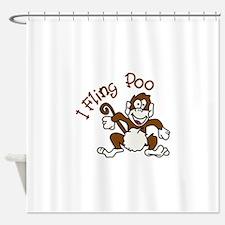 I Fling Poo Shower Curtain