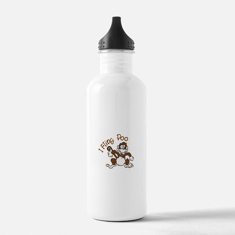 I Fling Poo Water Bottle