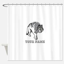 Arctic Wolf (Custom) Shower Curtain