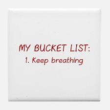 My Bucket List Tile Coaster