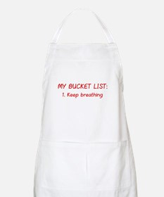 My Bucket List Apron