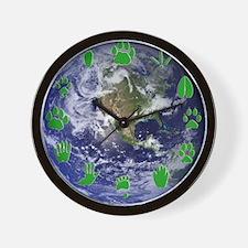 Earth and Green Tracks Wall Clock