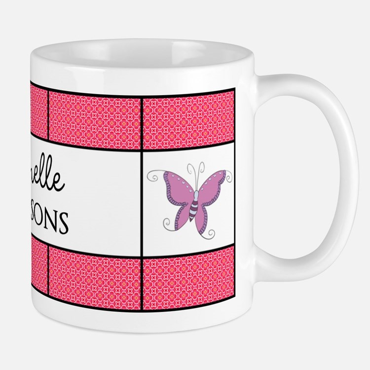 Personalized Purple Pink Butterfly Mug