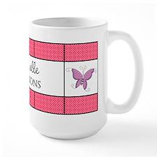 Personalized Purple Pink Butterfly Mug