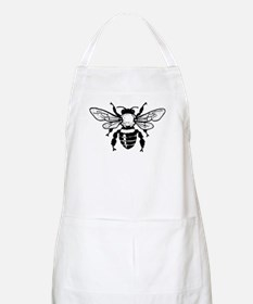 Beautiful Honey Bee Silhouette Apron