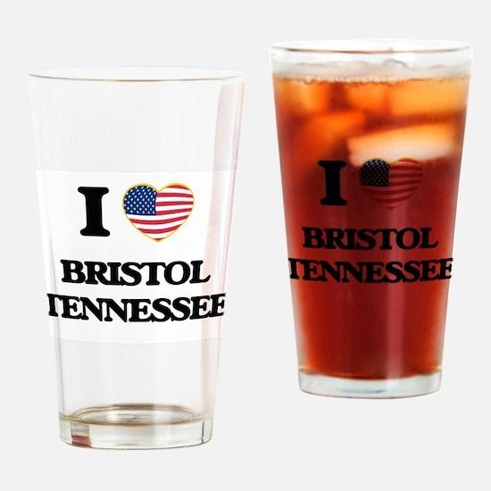 I love Bristol Tennessee Drinking Glass