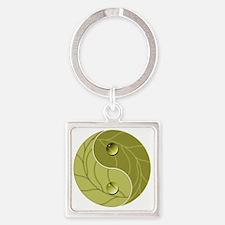 Yin Yang Nature Square Keychain