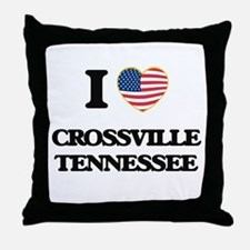 I love Crossville Tennessee Throw Pillow