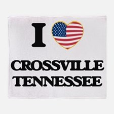 I love Crossville Tennessee Throw Blanket