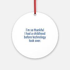 I'm So Thankful Ornament (Round)