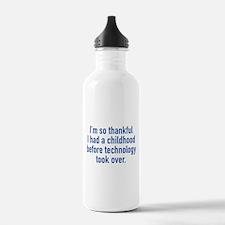 I'm So Thankful Water Bottle