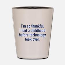 I'm So Thankful Shot Glass