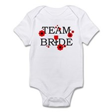 Team Bride Black Red Infant Bodysuit