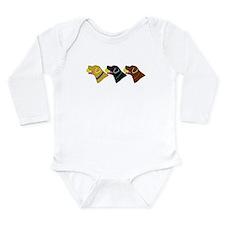 Funny Lab retriever Long Sleeve Infant Bodysuit