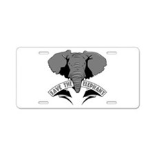 Save The Elephant Aluminum License Plate