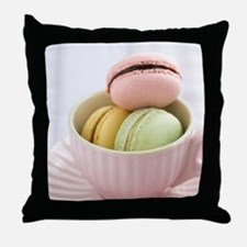 Macarons Throw Pillow