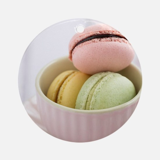 Macarons Round Ornament