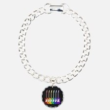 Rainbow Guitars Charm Bracelet, One Charm