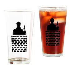 Mason brick wall Drinking Glass
