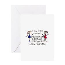 A True Friend Greeting Cards