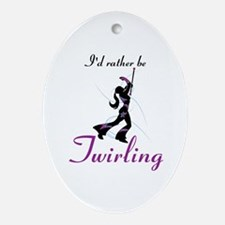 Rather Be Twirling Ornament (Oval)
