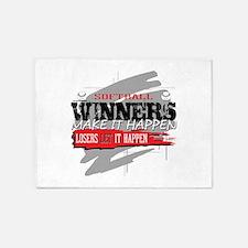 Winners and Losers Softball 5'x7'Area Rug