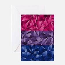 Abstract Bisexual Flag Greeting Card