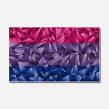 Abstract Bisexual Flag Car Magnet 20 x 12
