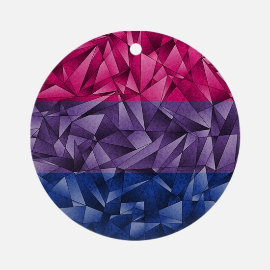 Abstract Bisexual Flag Ornament (Round)