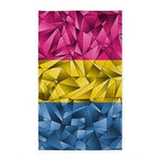 Abstract Pansexual Flag Area Rug