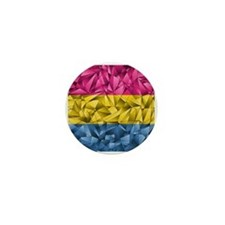 Abstract Pansexual Flag Mini Button