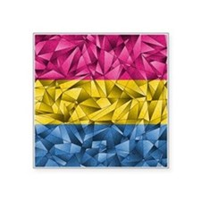 "Abstract Pansexual Flag Square Sticker 3"" x 3"""