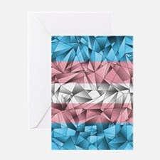 Abstract Transgender Flag Greeting Card