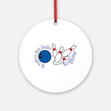 Bowling Big Balls Ornament (Round)