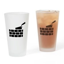 Mason brick wall trowel Drinking Glass