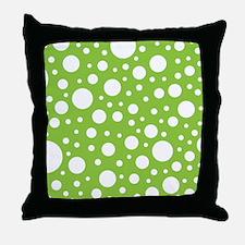 Mod Dot Spring Green Throw Pillow